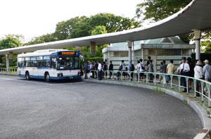 中山競馬場への直通バス