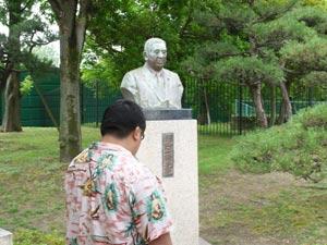 農水大臣・河野一郎氏銅像